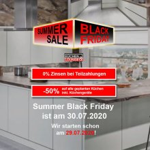 Summer Black Friday Küchenlounge Werbekampagne